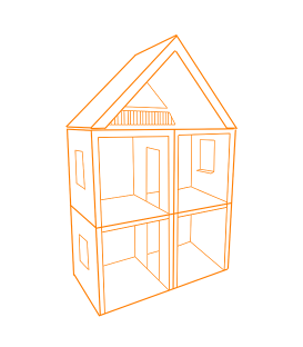 Dollhouses and roomboxes